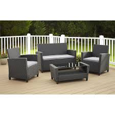 Best Outdoor Patio Furniture Deals by Cosco Outdoor Malmo 4 Piece Resin Wicker Patio Conversation Set