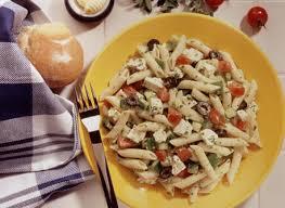 salade de pâtes à la grecque recette plaisirs laitiers