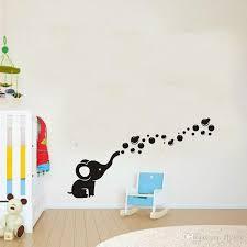 Elephant Cute Wall Art White Wallpaper Sample Popular Great Stickers Black Chair Blue Carpet Wooden Brown