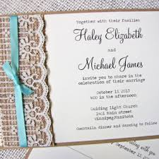 Rustic Wedding InvitationBurlap Invitation Lace Ribbon Burlap Suite