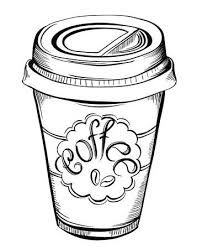 Hot Coffee Disposable To Go Cup With Lids And Label Beans Text Isolated