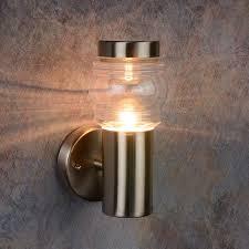 lucide mirane outdoor wall light satin chrome pergola