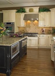 madison maple vanilla bean with milan island kitchen design and