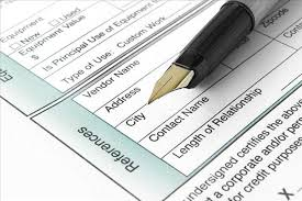 Pen Laying On Top Of Employment Form Pointing To References Area