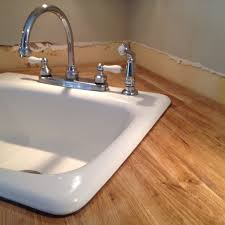 Install Overmount Bathroom Sink by Stick A Fork In Them The Ikea Butcher Block Counters Are Done