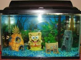 Spongebob Aquarium Decor Set by Spongebob Square Pants Is Right At Home In A Kids Fish Tank Find