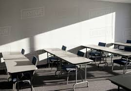 100 College Table And Chairs S And In A Classroom Stock Photo Dissolve