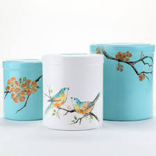 Turquoise Kitchen Canister Sets by Springtime In The Kitchen Canister Set Ilovetocreate