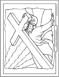 Good Friday Coloring Pages For God So Loved The World Catholic LentActivities ChildrenGood