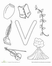 Preschool Reading Writing Worksheets V Is For