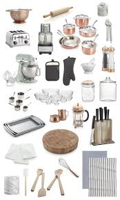 Collection Of Copper Glass Stainless Steel Kitchen Accessories