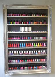 nail polish storage gelish shellac opi silver chrome display