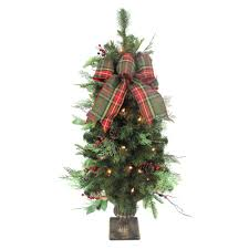 4 Ft Pre Lit Slim Christmas Tree by Clear Porch U0026 Potted Christmas Trees Artificial Christmas