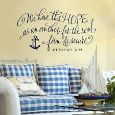 Wall Mural Decals Beach by Wall Decal Vinyl Wall Sticker We Have This Hope Bible Verse