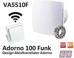 abluftventilator im zeitlosen design mit funk fernbedienung