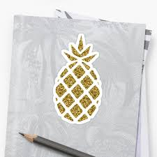 Gold Glitter Pineapple Silhouette