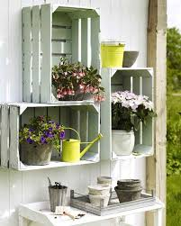 Its A New Trend Recycling The Objects Wooden Crates Can Be Repainted And Turned Into Beautiful Natural Shelves Easy An Inexpensive Idea