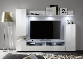 wohnwand weiß hochglanz fernsehschrank wohnzimmer tv hifi möbel medienwand dos