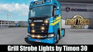 STROBE LIGHTS FOR GRILL V1.2 1.30 TUNING MOD -Euro Truck Simulator 2 ...
