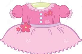 Little Girl Dress Clip Art Pink Baby Clothes Clipart Kid