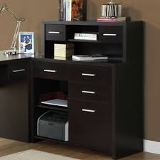 Monarch Specialties Corner Desk Brown by Home Office Modern Black Home Office Furniture Of L Shaped Corner