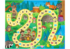 Click To See Printable Version Of Camping Board Game Template Paper Craft