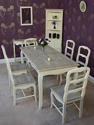 Shabby Chic Dining Room Furniture Uk by Classic Casamore Devon Rectangular Dining Table And 6 Dining