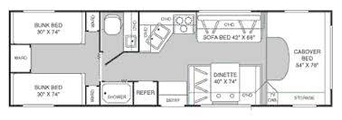 29 Foot Fleetwood Class C Motorhome Rental Floorplan