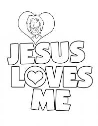 Jesus Coloring Pages Loves Me