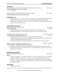 It Resume Examples New Graduate Student Samples For College Applications