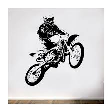 stickers décoration motocross stickers muraux pour décorer la maison