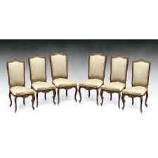 Antique Empire Style Dining Chairs Vintage Table Set Of Six Louis Xv Carved Room Furniture