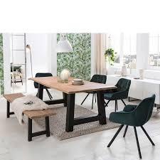 set essgruppe in white wash grün mit bank 4 stühlen