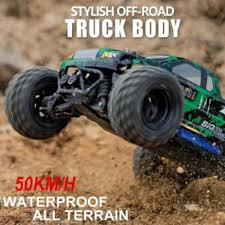 100 Rc Off Road Trucks Hot Toys Cars 2 4ghz Big Foot Monster 4wd Rock Climbing