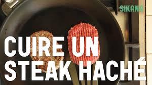 steak haché cuire préparer cuisine