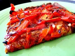 cuisiner les poivrons rouges pizza aux poivrons rouges et oignon recette de cuisine alcaline