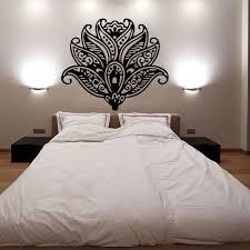 Lotus Flower Wall Decals Pattern Yoga Decal Vinyl Sticker Home Decor Interior Design Bedroom Studio Dorm