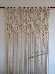 makramee vorhang handgefertigt makramee wandbehang ecru makramee vorhang doorway curtain cotton 6mm