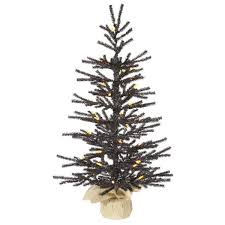 Vickerman Pistol 25 Black Artificial Christmas Tree With 35 LED Orange Lights Stand Reviews