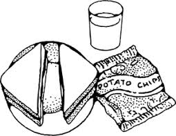 Clipart Description Best Of Lunch Box Black And White