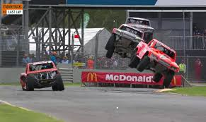 The End Of This Stadium Super Trucks Race Is Excellent, Great, Wonderful
