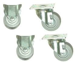 Pack Of 4) Colson Plate Casters W/ 35