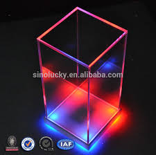 New Clear Cube Acrylic Led Display Box Customized