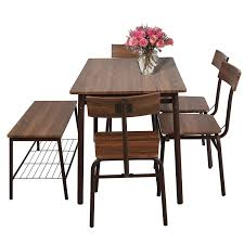 Amazon.com: Lucky Tree 6 Piece Dining Room Table Set Wooden Kitchen ... Live Edge Acacia Wood Iron 106 Ding Table W 5 Chairs Bench Signature Design By Ashley Charrell Piece Round Set Hooker Fniture Archivist With Pedestal Shop Picasso Pc Kitchen Table Set Leaf And 4 Plainville Settable Vintage Joanna Vintagrpjoannatbl5 Leg Side Detail Feedback Questions About Goplus Pcs Black Room Boconcept Granada Extendable Aptdeco Coaster Barzini Leatherette Mix Match 150041 Counter Height Dunk Costway Metal Canterbury Extension Noa Nani
