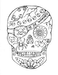 Day Of The Dead Coloring Pages For Adults Book Pdf Sugar Skull Page Printable Rugs Draw