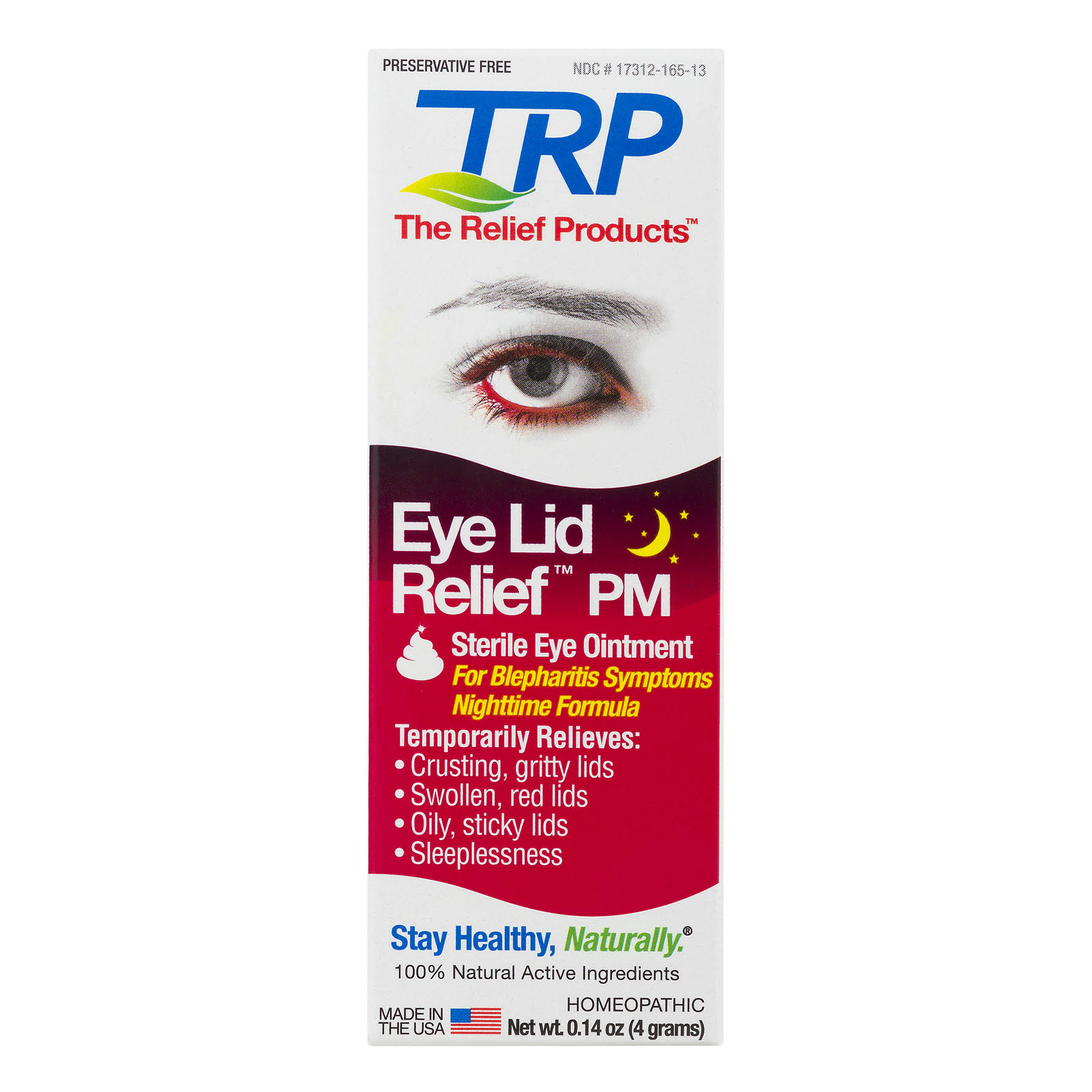 Relief Products Eye Lid Relief, PM - 0.14 oz