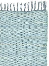tapis coton tisse a plat tapis à franges tissé en coton recyclé uni helline
