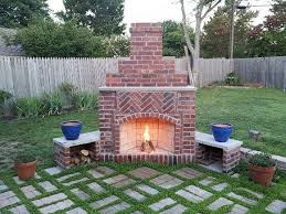Photo Of Brick Ideas by Best 25 Outdoor Fireplace Brick Ideas On Whitewashed