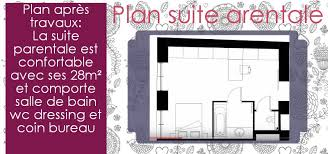 surface minimale bureau dessiner le plan d une suite parentale