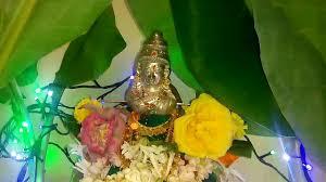 Varalakshmi Vratham Decoration Ideas by Varalakshmi Vratham Poojai Aarthi Tamil 2015 Youtube